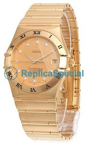 Omega Constellation 1102.15.00 Round Automatisk gult guld Bralecet Mens Watch