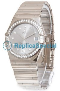Omega Constellation 1105.36.00 Round Automatisk White Gold Bralecet Watch