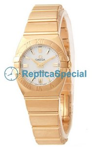 Omega Constellation 1181.70.00 Polygon 18k Yellow Gold Case schweiziska kvarts kvinna klocka