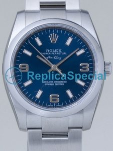 Rolex Airking 114200BLASO Blue Dial Stainless Steel Case Mens Watch