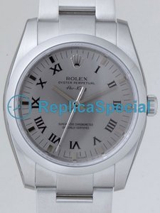 Rolex Airking 114200GYRO Round Stainless Steel Oyster Bralecet Stainless Steel Bezel Watch