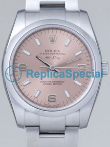 Rolex Airking 114200PASO Pink Dial Automatic Mens Stainless Steel Bezel Watch